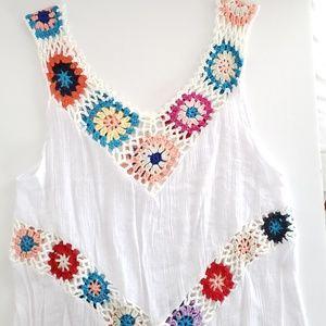 Crocheted beach coverup